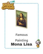 Animal crossing new Horizons Mona Monna Lisa Gioconda 🎨🎨 Redd