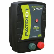 PATRIOT PMX200 ELECTRIC FENCE CHARGER ENERGIZER | 50 MILE /165 ACRE 110V POWERED