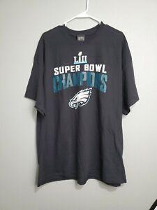Philadelphia Eagles 2018 NFL Super Bowl LII Champion T-Shirt by Fanatics 2XL