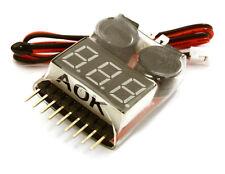 C27188 Integy AOK 5in1 1-8S LiPo Voltage & Temperature Checker + Warning Buzzer