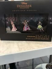 Disney Princess LE Pin Set Designer Collection Belle Jasmine Tiana