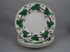 """FOUR WEDGWOOD GREEN NAPOLEON IVY 8"""" RIMMED BOWLS."""