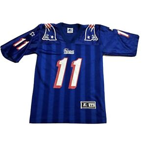 Starter Drew Bledsoe Blue #11 New England Patriots Jersey Youth Kids Small 8 NFL