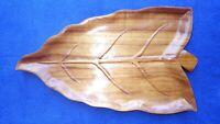 Old Vintage Hawaiian Large Koa Ape Leaf Pupu Platter Tray Tiki Bar Luau Hawaii