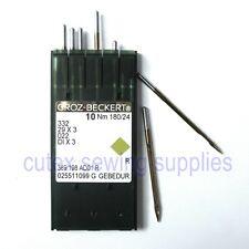 10 Groz-Beckert 29X3, 332 Size 24 Titanium Sewing Needles For Singer 29K Class