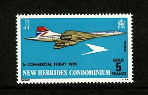W0108 NEW HEBRIDES 1975 The first commercial flight of the Concorde  MNH