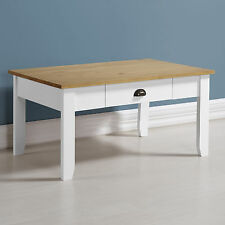 Seconique Ludlow Occasional Furniture - White & Oak- Tables Sideboard TV Unit Coffee Table