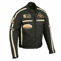 Motorrad Textil Jacke Schwarz Herren Motorrad Jacke Biker Motorrad Jacke Neu