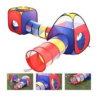 Kids Play Tents Pop Up Tunnel Baby Toddler Crawl Balls Pit Playhouse Portable