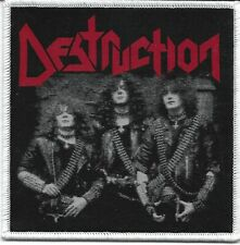DESTRUCTION-OLD SCHOOL PHOTO-WOVEN PATCH-WHITE BORDERS