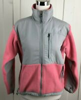 The North Face Fleece Jacket Full Zip Pockets Women's XS Pink Gray Colorblock