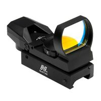 NcSTAR D4B Metal Four Reticle Compact Reflex Red Dot Sight for Rifle Rail Mount