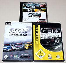 3 PC SPIELE SAMMLUNG - DTM RACE DRIVER 2 3 GRID RACEDRIVER - TOURING CARS RACING