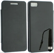 BATTERY BACK LEATHER WALLET FLIP POUCH STYLUS COVER CASE FOR BLACKBERRY Z10 SA01