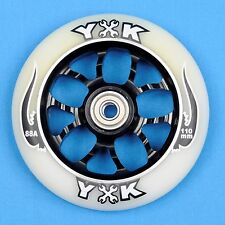 YAK Mechanic Scooter Wheel 110mm White w/Bearings - Razor Lucky District Phoenix
