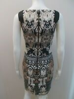 CUE EXPOSED ZIP, GERMAN FABRIC PRINT DRESS SIZE 8  #(V1660)