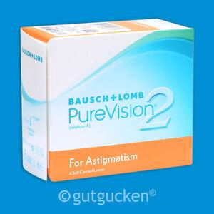 PureVision 2 HD for Astigmatism 2 x 6 torische Kontaktlinsen Monatslinsen
