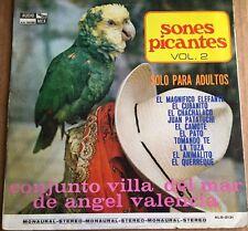 CONJUNTO VILLA DEL MAR DE ANGEL VALENCIA SONES PICANTES VOL. 2 MEXICAN 1970 LP