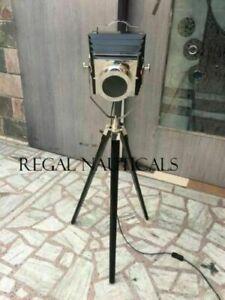 Designer camera vintage floor lamp searchlight black tripod home decor lamp