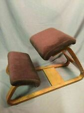 Bent Oak Kneeling Stool Vintage Ergonomic Chair Mid Century Modern
