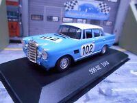 MERCEDES BENZ 300SE 300 SE W111 Heckflosse Racing 1964 #102 Spa IXO Altaya 1:43