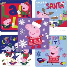 Peppa Pig Christmas Stickers x 5 - Peppa Christmas Xmas Stickers - Stocking Gift