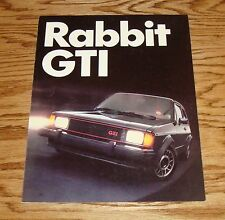 Original 1982 1983 Volkswagen VW Rabbit GTI Sales Brochure 82 83
