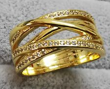 Pandora Ring Gold 160919CZ Entwined Sparkling Lines S925 ALE SIZE 56