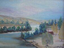 "ARTIST UNKNOWN AUSTRALIAN FRAMED SMALL OIL ""RIVER SCENE NSW"" C 1980"