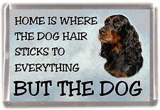 """Gordon Setter Dog Fridge Magnet """"Home is Where"""" Design by Starprint"""