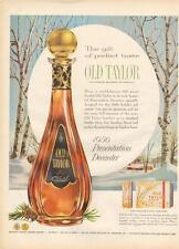 1956 Old Taylor PRINT AD Bourbon Whiskey Presentation Decanter