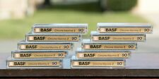 10 Ten BASF Chrome Maxima II 90 Min. Cassette Tapes Pre-Recorded