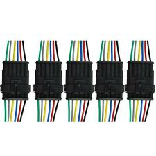 6 Pin Way Sealed Waterproof Electrical Wire Connector Plug Scooter Accessories