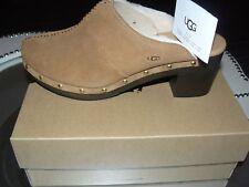 New UGG Australia KASSI Clogs Mules Shoes US-11  EU-42 *(Chestnut Suede)*