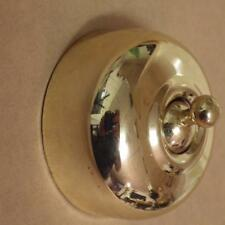 smooth polished brass deco light switch.heritage victorian,new.approved,TH 5474