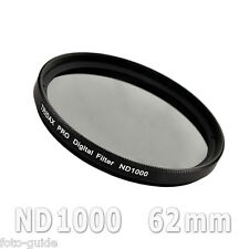 Nd1000 filtro gris 62mm density Grey Tridax pro digital