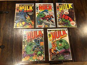 LOT of 5 Incredible Hulk Silver Bronze 117 122 135 175 177 NO RESERVE, HUGE SALE