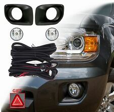 NEW FOG LIGHT KIT FOR 2015 ON CANYON LAMPS 5202 BULBS BEZELS HARNESS SWITCH GIFT