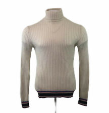 Tommy Hilfiger Cashmere & Wool Polo Neck Jumper Cream Small Mens