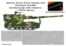 Digital Paint Masks for Chinese PLZ-05 Camouflage + Insignia 1/35 Howitzer TS022
