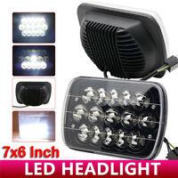 5X7 7x6 Black LED Headlight For 1986-1995 Jeep Wrangler YJ 1984-2001 Cherokee XJ