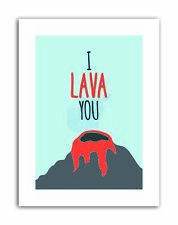 MOTIVATION LAVA LOVE PUN VOLCANO Poster Typography Quote Motivational Canvas