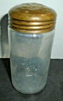 "ANTIQUE CLEAR GLASS SUGAR SHAKER 4 7/8"""