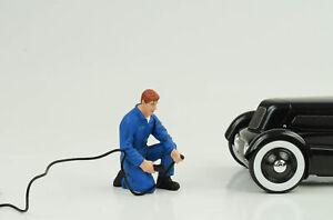 Mechanic Air Pressure Tyre Figurine Tony Workshop 1:18 American Diorama N