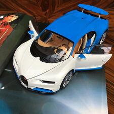 New 1/18 GTA GT Autos Bugatti Chiron Diecast Open close car model White Blue