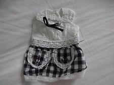 New Pet Dog Blue & White Cotton Dress Small/XS