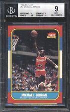 Michael Jordan 1986 1986-87 Fleer #57 RC Rookie BGS 9 w, 9.5 no sub below 9