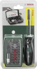 """BOSCH 2607017189 Bit Set 32 tlg Kreuz Schlitz Phillips Torx Halter 1/4 """" 6.3 mm"""