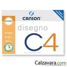 CANSON BLOCCO C4 - 4 ANGOLI - 24x33 FOGLI 20 224gr. - RUVIDO