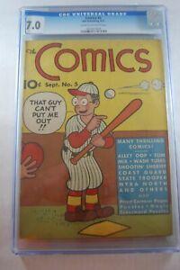 THE COMICS #5 CGC GRADED 7.0 DELL PUBLISHING 9/1937